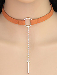 Necklace Choker Necklaces Tattoo Choker Jewelry Casual Circle Tattoo Style Geometric Alloy 1pc Gift Gold Silver