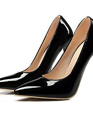 Women's Heels Spring Fall T-Strap PU Wedding Dress Party & Evening Stiletto Heel  Black Yellow Pink Red White Almond
