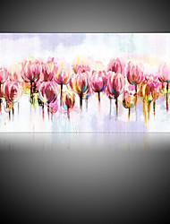 billige -Hang-Painted Oliemaleri Hånd malede - Blomstret / Botanisk Parfumeret / Moderne Lærred / Valset lærred