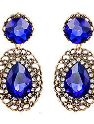 ieftine -Dame Cercei Picătură Safir Vintage Βικτωριανής Εποχής Bijuterii Statement Piatră Preţioasă Cristal Diamante Artificiale Picătură Bijuterii