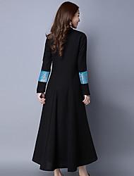 Original-Design der neuen Frauen&# 39; s nationalen Wind schlank mit langen Ärmeln langen Mantel Kleid Sandwich