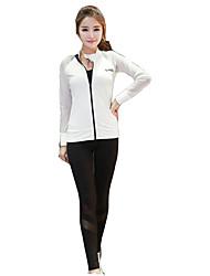 Per donna Maniche lunghe Corsa Set di vestiti/Completi Asciugatura rapida Traspirante Morbido Comodo Primavera Estate Autunno