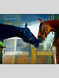 Oil Painting Horse Style  Canvas Material with Stretched Frame Ready To Hang SIZE60*90CM.