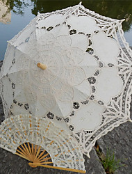 "cheap -Post Handle Lace Wedding Beach Umbrella Umbrellas 30.7""(Approx.78cm)"