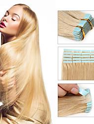 Недорогие -Febay На ленте Расширения человеческих волос Прямой Не подвергавшиеся окрашиванию Бразильские волосы Отбеливатель Blonde