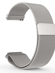 cheap -Watch Band for Pebble Time Round Pebble Milanese Loop Stainless Steel Wrist Strap