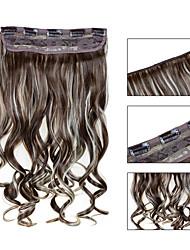 baratos -5 clips ondulado 12/613 grampo de cabelo sintético em extensões de cabelo para senhoras mais cores disponíveis