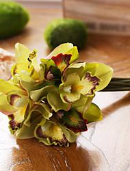baratos -Flores artificiais 7 Ramo Estilo Europeu Magnólia Flor de Mesa
