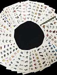 50 Neglekunst Klistermærke Negle Smykker 3D Negle Stickere Blomst Punk Makeup Kosmetik Neglekunst Design