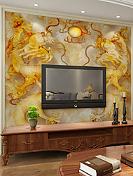 JAMMORY Art DecoWallpaper For Home Wall Covering Canvas Adhesive required Mural Jade Dragon XL XXL XXXL