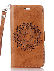 cheap -For Card Holder / with Stand / Flip Case Full Body Case Flower Hard PU Leather for LG LG K10 / LG K8 / LG K7 / LG G4 / LG G3