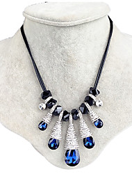 ieftine -Dame Guler Safir Geometric Shape Picătură Lacrimă Cristal Design Unic Bijuterii Pentru Nuntă Petrecere Zilnic