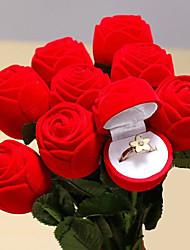 abordables -rouge rose bijoux bague boîte de mariage bague de fiançailles pour les amoureux boîte cadeau Saint-Valentin