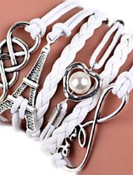 Femme Bracelets Rigides Perle Alliage Pierre Forme de Coeur Arbre de la vie Bijoux 1pc