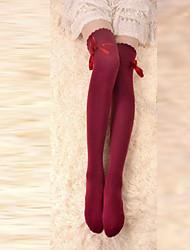 Недорогие -Носки и колготки Ленты Шнуровка Жен. Красный Бант Чулки Хлопок Костюмы на Хэллоуин