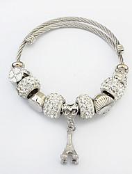cheap -Women's Tower Charm Bracelet - Fashion European Silver Bracelet For Casual