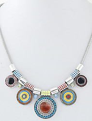 cheap -Women's Statement Necklace - Euramerican Fashion European Circle Necklace For Party
