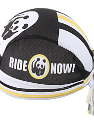 XINTOWN Panda New Riding Bandana Kerchief Bicycle Bike Pirate Hat Cycling Headband Mens and Womens Cap Black & White