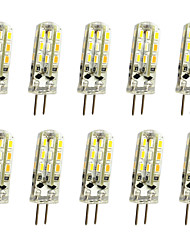 cheap -10pcs 1W 120lm G4 LED Bi-pin Lights T 24LED LED Beads SMD 3014 Decorative Warm White / Cold White 12V