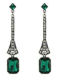 abordables -Mujer Pendientes colgantes - Blanco / Negro / Verde Para Casual