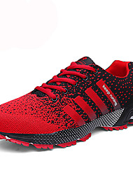 cheap -Men's Shoes PU Winter Fall Comfort Athletic Shoes Tennis Shoes Lace-up for Athletic Casual Black/Red Black/White