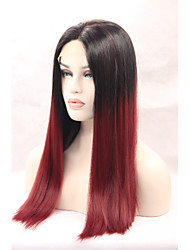 cheap -Synthetic Lace Front Wig Straight Natural Hairline Women's Lace Front Natural Wigs Synthetic Hair
