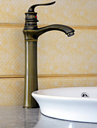 cheap -Antique Deck Mounted Ceramic Valve One Hole Single Handle One Hole Antique Brass, Bathroom Sink Faucet