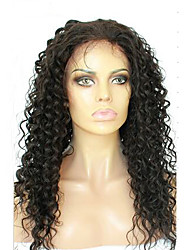 cheap -Full Lace Human Hair Wigs For Black Women Deep Curly Peruvian Virgin Hair Full Lace Wig With Baby Hair
