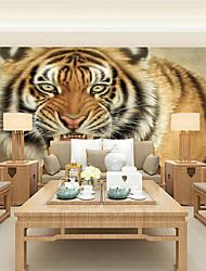 economico -Floreale / Artistico / 3D Sfondo Per la casa Contemporaneo Rivestimento pareti , Tela Materiale adesivo richiesta Murale , camera
