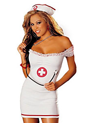 cheap -Nurse Career Costumes Cosplay Costumes Party Costume Female Christmas Halloween New Year Festival / Holiday Halloween Costumes Color Block