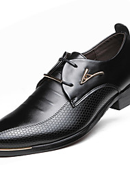 cheap -Men's Formal Shoes Faux Leather Spring / Fall Business Oxfords Waterproof Black / Brown / Party & Evening