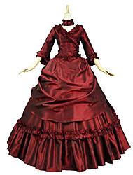 cheap -Princess Gothic Lolita Dress Sweet Lolita Dress Classic Lolita Dress Rococo Elegant Victorian Lace Dress Cosplay Floral Long Sleeve Halloween Costumes / Punk Lolita Dress