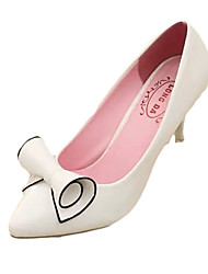 Dámské Podpatky Pohodlné hrbit boty PU Podzim Zima Ležérní Pohodlné hrbit boty Nízký podpatek Bílá Černá Červená 2.5 - 4.5 cm