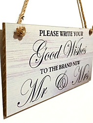 Amazon ebay listed hot style wooden bridal decoration Wooden wedding hangs Taiwan
