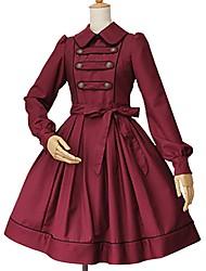Lolita Classique/Traditionnelle Princesse Dentelle Femme Une Pièce Robes Cosplay Manches Longues