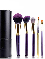 MSQ® 7pcs Makeup Brushes set Hypoallergenic/Limits bacteria Fiber Purple Blush brush Shadow/Lip/Brow Brush Makeup Kit Cosmetic Brushes