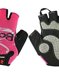baratos -BOODUN® Luvas Esportivas Luvas de Ciclismo Vestível Respirável Anti-desgaste Protecção Sem Dedo Malha Ciclismo / Moto Mulheres