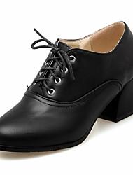 Недорогие -Жен. Обувь Синтетика Лакированная кожа Дерматин Полиуретан Весна Осень Удобная обувь Оригинальная обувь Босоножки Обувь на каблуках Для