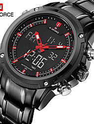 cheap -Men's Sport Watch / Fashion Watch / Dress Watch Calendar / date / day / Water Resistant / Water Proof Alloy Band Luxury / Casual Multi-Colored