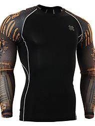 Per uomo T-shirt da corsa Manica lunga Traspirante Compressione Abbigliamento a compressione Set di vestiti per Esercizi di fitness Corsa