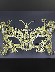 Butterfly Metal Laser Cut Venetian Masquerade Mask with Rhinestones3013A3