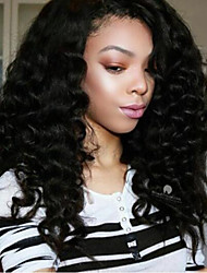 cheap -Remy Human Hair Full Lace Wig Deep Wave 150% 180% Density 100% Hand Tied African American Wig Natural Hairline Short Medium Long Women's