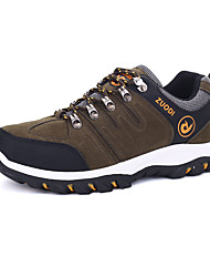 Hiking Shoes Men's Athletic Shoes Comfort PU Spring Fall Outdoor  Comfort Lace-up Flat Heel Black Gray Green Flat