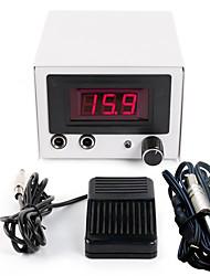 baratos -LCD Máquina de tatuagem Fonte de alimentação digital potência profissional Cordão do grampo Interruptor de pé Tomada