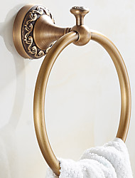 cheap -New Arrival Euro Style Wall Mount Antique Copper Towel Ring Bathroom Accessories Bath Towel Holder Bath Hardware