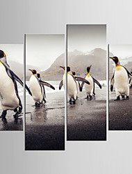 cheap -Landscape Animal Modern Realism,Four Panels Canvas Any Shape Print Wall Decor For Home Decoration
