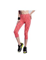 Damen Laufhosen Rasche Trocknung Atmungsaktiv Verhindert Scheuerung Ultra-leichter Stoff 3/4 Strumpfhosen/Corsaire Leggins Unten für Yoga