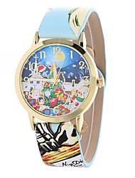 abordables -Mujer Reloj de Pulsera Gran venta Piel Banda Encanto / Moda Negro / Blanco / Azul / Un año / Tianqiu 377