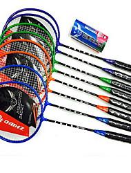 Racchette da badminton Basso spostamento d'aria Alta resistenza Elevata elasticità Duraturo Metallo 1 pezzo per