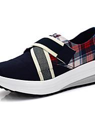 Damen-Loafers & Slip-Ons-Outddor Lässig Sportlich-Leinwand-KeilabsatzSchwarz Grau Rot